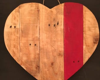 Upcycled Pallet Wood Heart