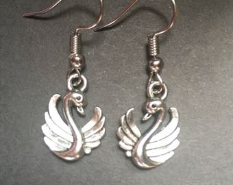 Swan earrings - Perfect for Imbolc