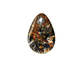 Russian Chiastolite natural stone cabochon  46 х 32 х 5 mm