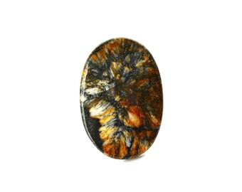 Russian Chiastolite natural stone cabochon  48 х 33 х 6 mm