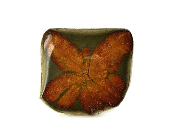 Russian Glendonite natural stone cabochon  53 х 50 х 6 mm