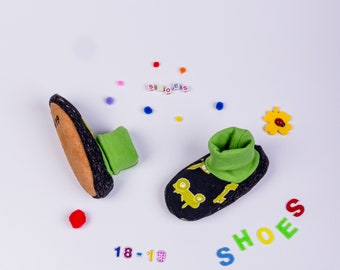 """Running shoes, baby shoes, toddler shoes """"Tractor"""""""