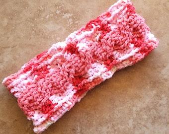 Pink ear warmer