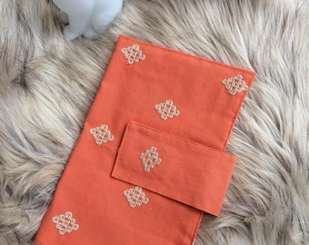 Coral Clutch - Travel Clutch - Boho Clutch - Nappies Holder