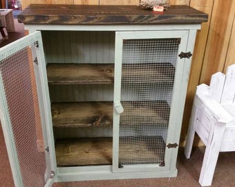 Rustic Made Pie Safe/ Jelly Cabinet