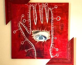 Contemporary Mixed Media Art Painting (Sensate)