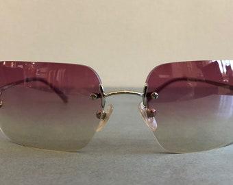 CHANEL Sunglasses CC Aviators Rimles 0901e576153c