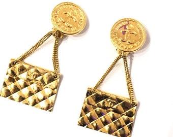 a211786e3 CHANEL CC Bag Motif Earrings
