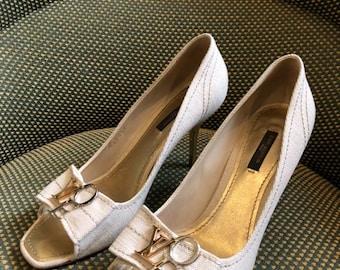 1a7cf0cf427d LOUIS VUITTON Love Open Toes High Heels Shoes Stiletto