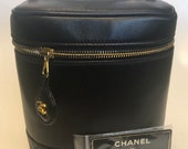 CHANEL Black Quilted Bag Vanity Pouch