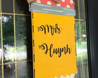 Pineapple Door Hanger Summer Decoration Classroom Sign Etsy