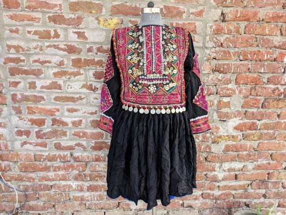 Afghani Hand embroidered Vintage tribal Dress, Afg