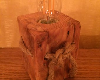 Natural Wooden Lamp, Wood Lamp, Rustic Lamp, Natural Gift Idea, Natural Home