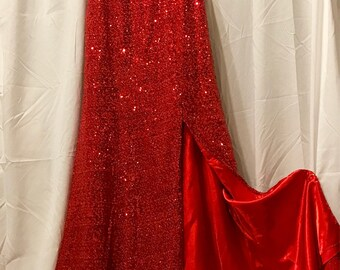 Red Bombshell Evening Gown Size 6