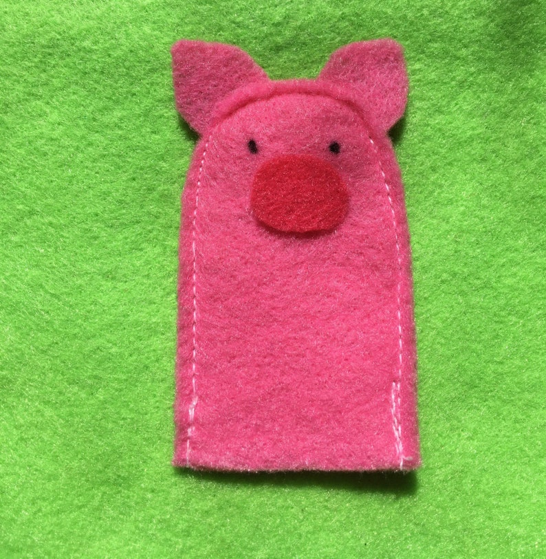 Felt Quiet Book Page-Farm Animal Finger Puppets
