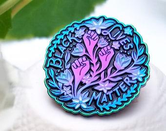 Black Lives Matter - Rainbow Plated Lapel Pin