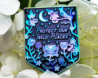 Protect Our Wild Places - Rainbow Plated Lapel Pin