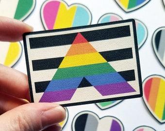 LGBTQIA Ally - Canvas Iron On Patch