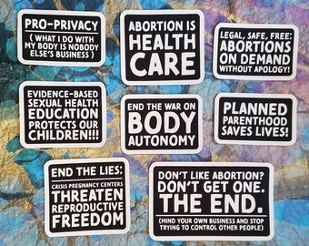 Abortion Rights Collection - Canvas Iron On Patches