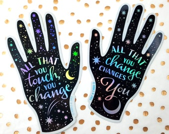 Set of 2 - Inspirational Quote Holographic Stickers