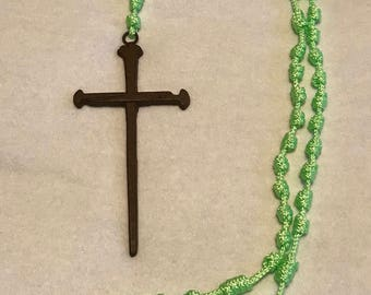 Large Lime Green Wall Rosary