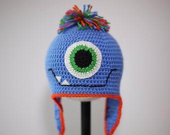 Crochet One Eye Monster Hat