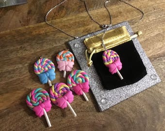 Lollipop necklace on 20 Inch chain