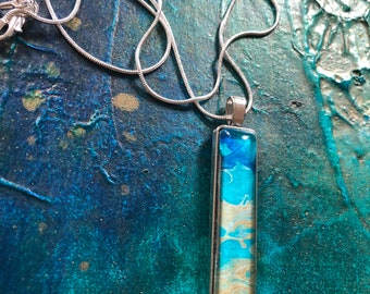 Water Pendant with Gold Accent IV