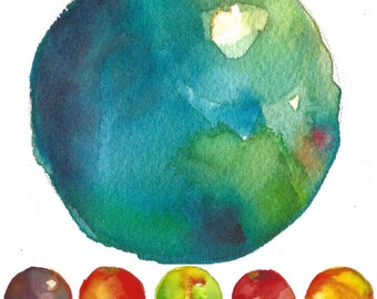 Watercolor Rainbow Series (sold as set of six 4x6)