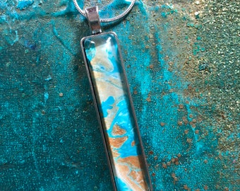 Water Pendant with Gold Accent III