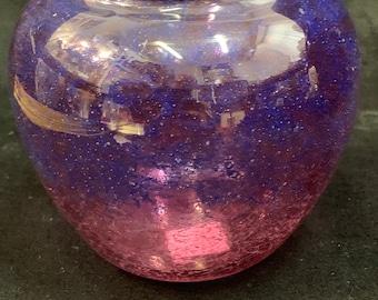 Rare monart glass short vase