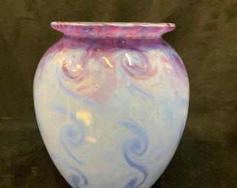 Beautiful monart glass vase rare colour