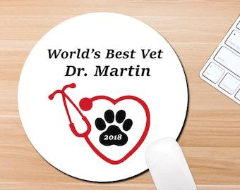 veterinarian gifts gift under 15 graduation gift new vet gift christmas gift vet tech gift office staff gift custom mousepad