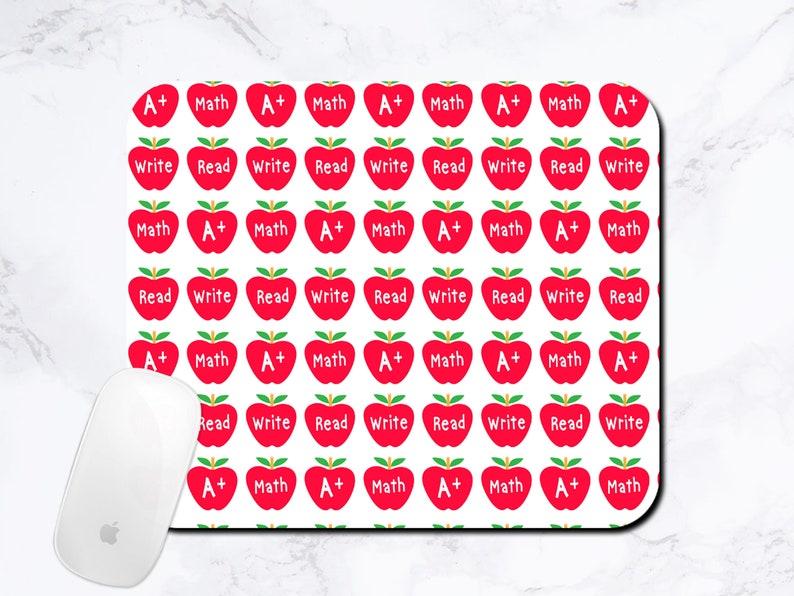 Educational Gifts Student Teacher Gift Apple Mouse Pad Teachers Mousepad Classroom Gifts Teacher Graduation Gift