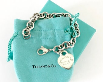 96cac2e11 Vintage Return to Tiffany & Co. Heart Tag Link Bracelet | 925 Silver Tiffany  Chain Bracelet