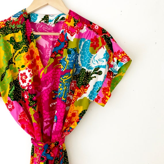 Novelty Print 60s Tunic Blouse | Vintage Psychede… - image 7