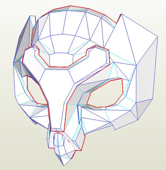 Overwatch Ana Snow Owl Mask PDF and PDO Etsy