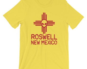 5932d9fde3f Roswell Shirt   Roswell Alien T-Shirt   Zia Symbol Shirt   New Mexico Shirt