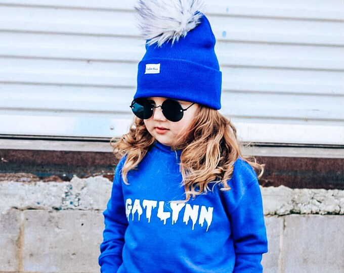 Featured listing image: Custom name personalized slime hoodie