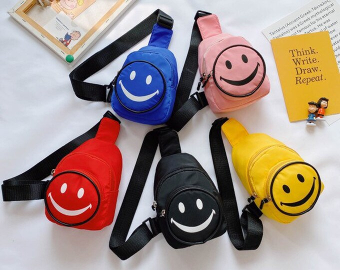Featured listing image: Smiley face mini crossbody bag backpack