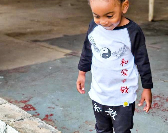 Yin Yang peace, love, happiness and respect shirt