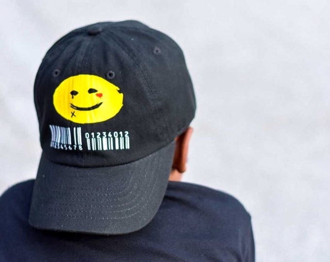 PERSONALIZED signature punk smiley face toddler/youth hat