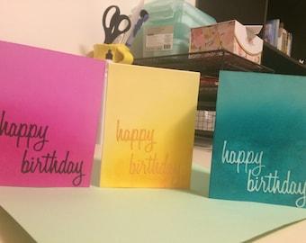 Happy Birthday ombre set of 3