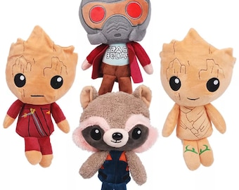 Guardians of The Galaxy Vol 2 Rocket Raccoon Groot Star-Lord Plush Toy Doll