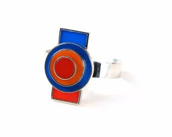 Bracelet argent 925 et plexi