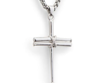 Details about  /New Rhodium Plated 925 Sterling Silver Baseball Bat and Ball Charm Pendant