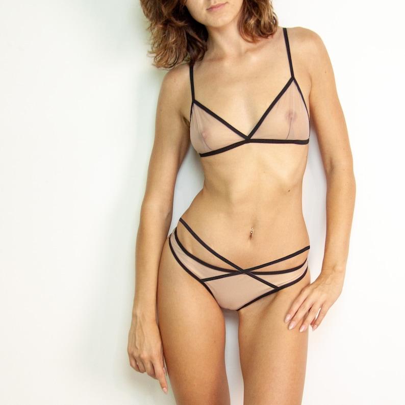 e3721783cf15 Sheer lingerie set Sexy intimates Women s underwear Sexy