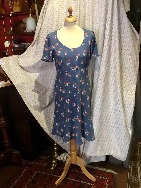 Vintage Cath Kidston strawberry print tea dress