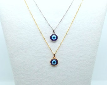 12mm Evil Eye Gold Or Silver Tone Pendant (Made To Order)