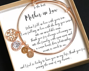 Mother in law ,Personalized bracelet,family tree bracelet,custom initials ,gift for mother in law,mother in law bracelet,mother of the groom